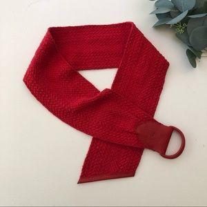 Guy Laroche Woven Cotton Wide Belt